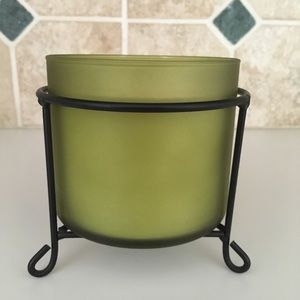 Large jar candle stand holder